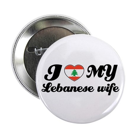 "I love my Lebanese wife 2.25"" Button (10 pack)"