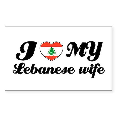 I love my Lebanese wife Rectangle Sticker