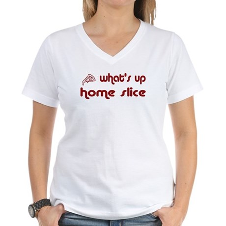 What's Up Home Slice Women's V-Neck T-Shirt