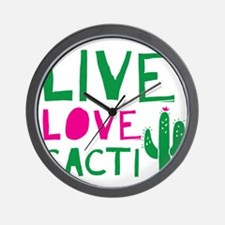 LIVE LOVE CACTI Wall Clock