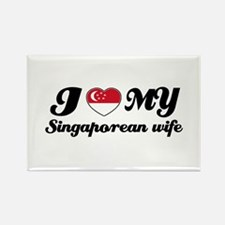 I love my Singaporean wife Rectangle Magnet