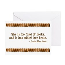 Too Fond of Books Greeting Cards (Pk of 10)