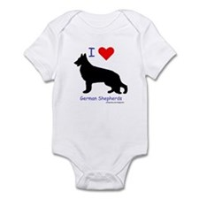 """I love German Shepherds"" Infant Bodysuit"