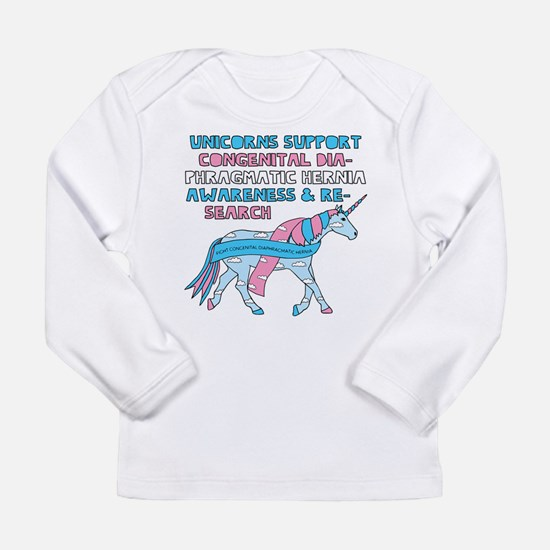 Unicorns Support Congenital Di Long Sleeve T-Shirt