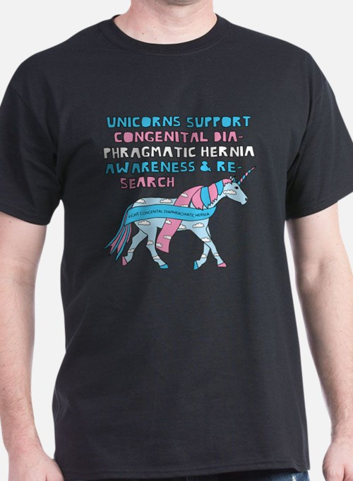 Unicorns Support Congenital Diaphragmatic T-Shirt