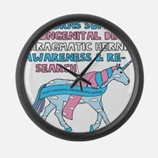 Unicorns Support Congenital Diaph Large Wall Clock