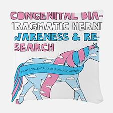 Unicorns Support Congenital Di Woven Throw Pillow