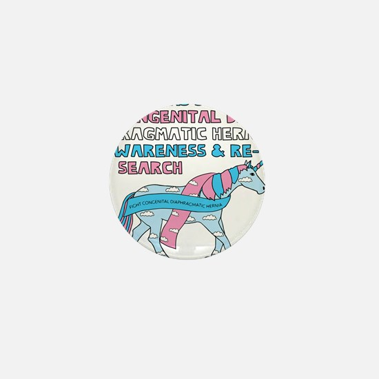 Unicorns Support Congenital Diaphragma Mini Button
