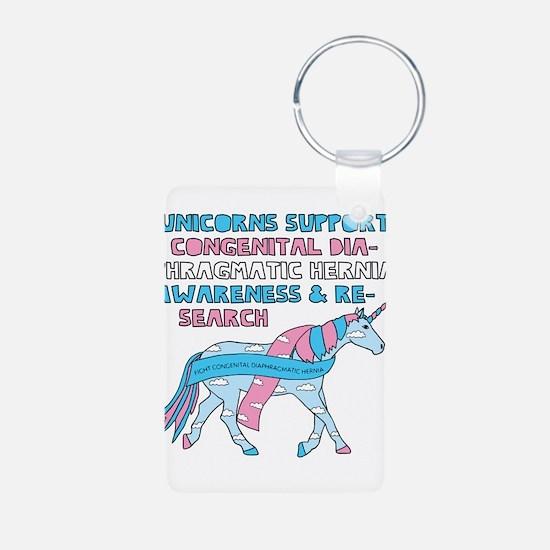 Unicorns Support Congenital Diaphragmati Keychains