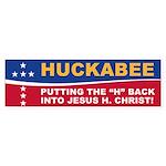 Putting the H Huck Bumper Sticker
