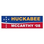 Huckabee/McCarthy '08 Bumper Sticker