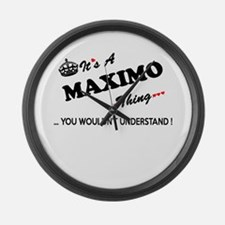 MAXIMO thing, you wouldn't unders Large Wall Clock