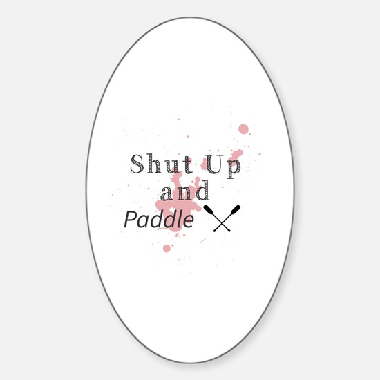 Cute Paddling Sticker (Oval)