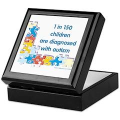 Autism Puzzle (1 in 150) Keepsake Box