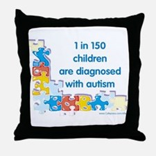 Autism Puzzle (1 in 150) Throw Pillow