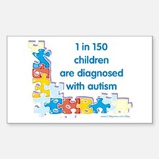 Autism Puzzle (1 in 150) Rectangle Decal