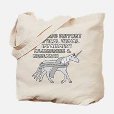 Unicorns Support Cortical Visual Impairme Tote Bag