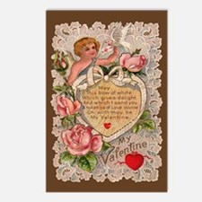 Vintage Lace My Valentine Postcards (Package of 8)