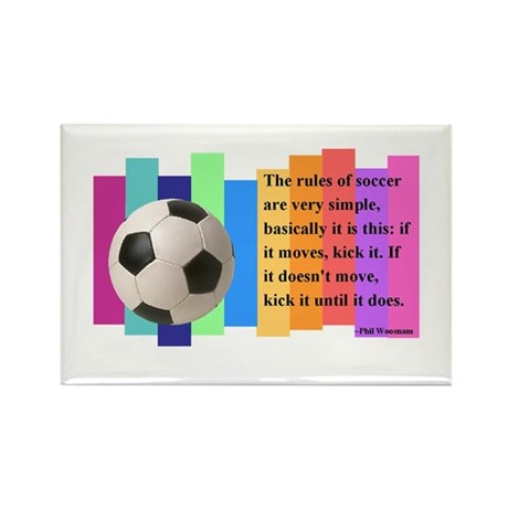 Soccer Quote Rectangle Magnet