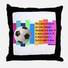 Soccer Quote Throw Pillow