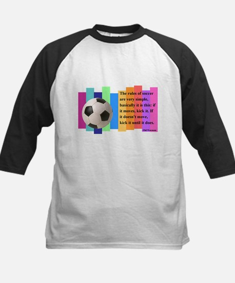 Soccer Quote Kids Baseball Jersey