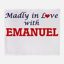 Madly in love with Emanuel Throw Blanket
