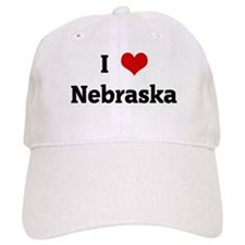 I Love Nebraska Baseball Cap