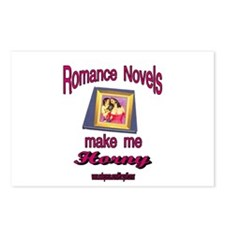 HORNY ROMANCE NOVELS Postcards (Package of 8)