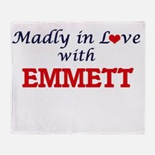Madly in love with Emmett Throw Blanket