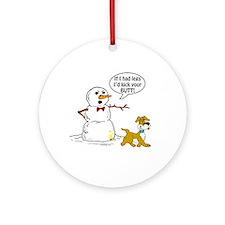 Snowman Joke Ornament (Round)