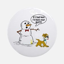 Snowman Joke Ornament (Round)