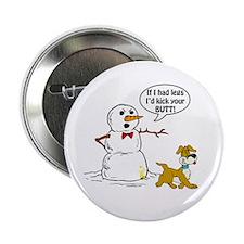 """Snowman Joke 2.25"""" Button"""