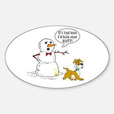 Snowman Joke Oval Decal