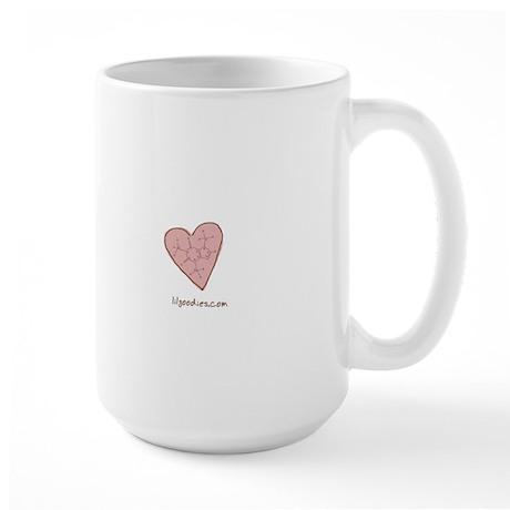 I Love Caffeine (pink) Large Mug