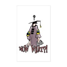 Graduation, Now What? Rectangle Decal