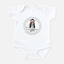 Basset Hound Christmas Infant Bodysuit