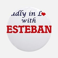 Madly in love with Esteban Round Ornament