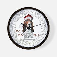 Basset Hound Christmas Wall Clock