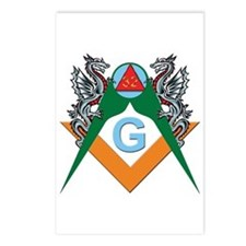 Masons 32nd Degree with Dragons Postcards (Package
