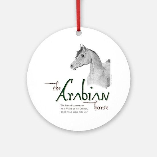 The Classic Arabian Horse Ornament (Round)