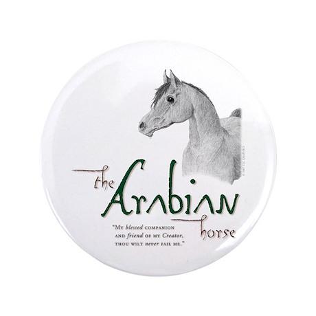 "The Classic Arabian Horse 3.5"" Button"