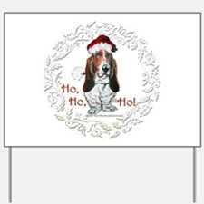 Basset Hound Christmas Yard Sign