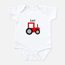Levi - Red Tractor Infant Bodysuit