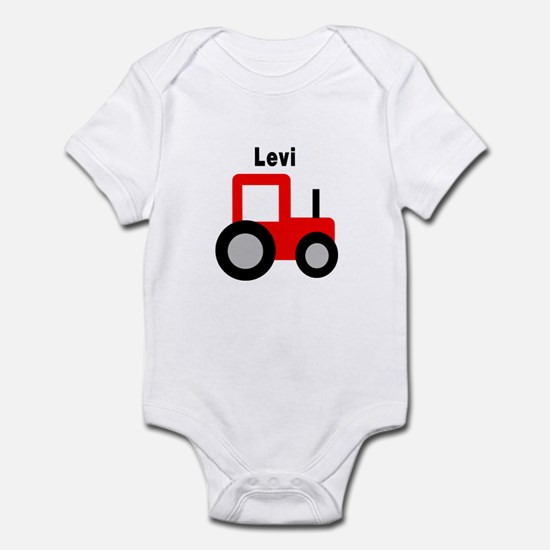 Levi - Red Tractor Infant Bodysuit