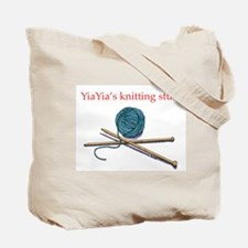 Yia-yia's Knitting Tote Bag
