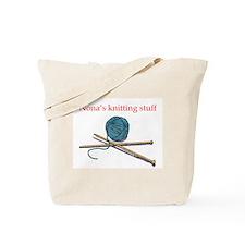 Nona's Knitting Tote Bag
