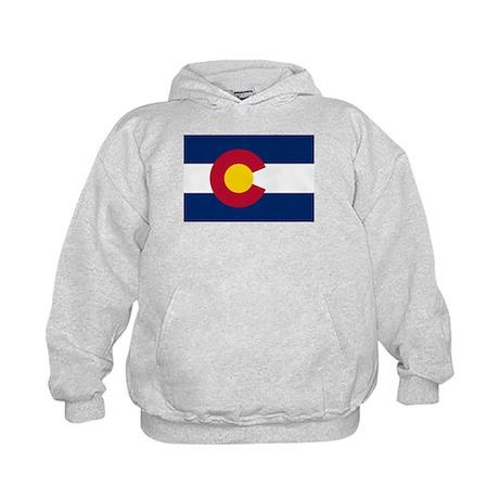 """""""Colorado State Flag"""" Kids Hoodie"""