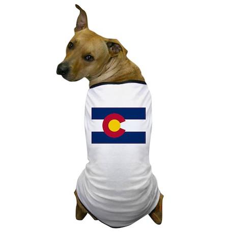 """""""Colorado State Flag"""" Dog T-Shirt"""