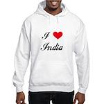 I Love India Hooded Sweatshirt