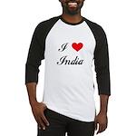 I Love India Baseball Jersey